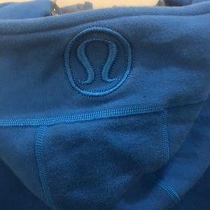 lululemon athletica Tops - Lululemon blue scuba hoodie sz 4 72138